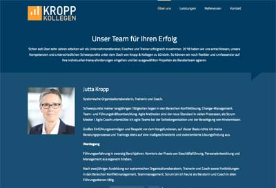 Website Kropp & Kollegen